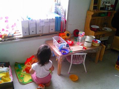 この写真も以前の写真。yu-kaの遊びはやっぱり女の子らしいです。