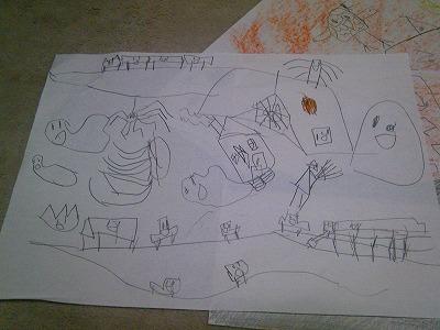5歳KEN ハロウィンの絵