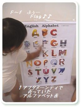 アフタヌーンティで買ったアルファベット表