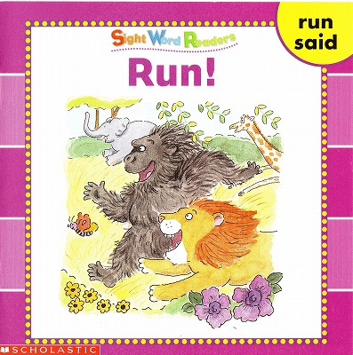 Sight Word Readersのセット絵本の中の1冊です-Run
